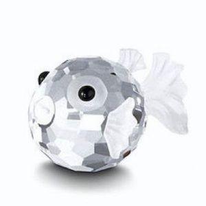 Swarovski blowfish crystal figurine